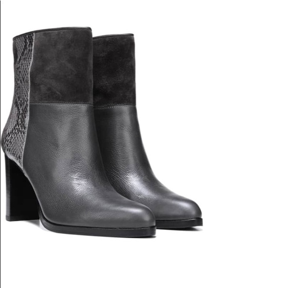 308e6b6e992 DVF Jericho Leather and Suede Ankle Boot grey 38